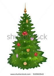 christmas treeisolated christmas tree lights decorations stock