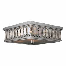 Chrome Flush Mount Ceiling Light by Collection 6 Light Chrome Finish And Clear Crystal Flush Mount