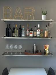 How To Make A Wood Shelving Unit by The 25 Best Bar Shelves Ideas On Pinterest Bar Ideas Bar And