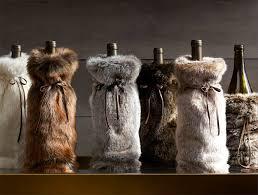 restoration hardware gift faux fur wine bag serendipity