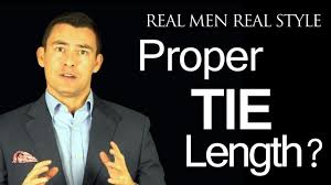 proper tie length where should the necktie tip fall proper tie