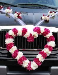 hochzeitsdekoration auto autoschmuck herz hochzeit wedding auto