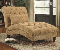 Tufted Chaise Lounge Furniture Good Ideas For Bedroom Decoration Using Light Brown