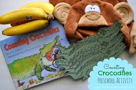 counting crocodiles a preschool math activity i heart crafty