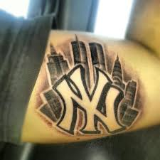 tattoo pictures of new york new york yankees symbol tattoo on bicep great tattoo ideas and tips