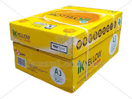 paper ream box 1 box ik yellow 70gm a3 5 reams fauzul enterprise