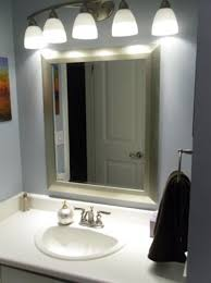 installing bathroom light fixture over mirror modern style led