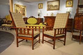 Arts And Crafts Dining Room Set Pair Of Mahogany Arts And Crafts Period Antique Reclining Chairs