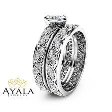 bezel set engagement rings vintage engagement ring 14k white gold bezel set diamond ring
