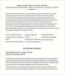 Senior Business Analyst Resume Professional Business Analyst Resume That Is Convincing And Effective