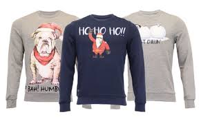 threadbare mens christmas sweatshirt from groupon uk