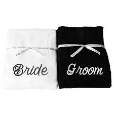 wedding gift hers mr mrs his hers towels set of two bath pool towels