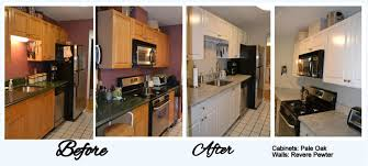 repainting kitchen cabinets before and after save considerable money by refinishing kitchen cabinets instead of