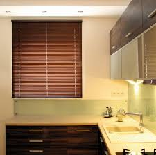 wooden window blinds with matching kitchen cabinets decor crave