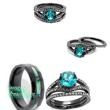 unique wedding ring sets his and hers best 25 black wedding ring sets ideas on black