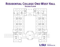 college floor plans res college one west hall lsu residential life