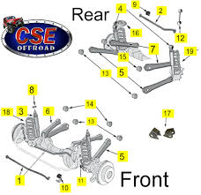 1997 jeep parts by diagram replacement suspension parts jeep 1997 2006 wrangler