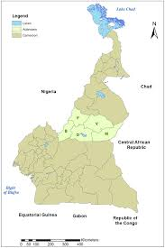 Gabon Africa Map by Political Map Of Cameroon Showing The Adamawa Region And The