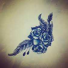 rose jewel bead feather tattoo design tattoo u0026 piercing ideas