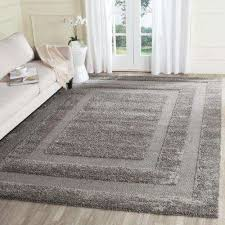 Gray Shag Area Rug 8 X 10 Shag Area Rugs Rugs The Home Depot