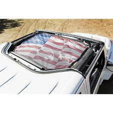 american flag jeep rugged ridge 13579 20 hardtop sun shade front flag 07 16