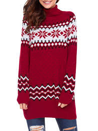 snowflake sweater sweaters cardigans l snowflake patterned tunic