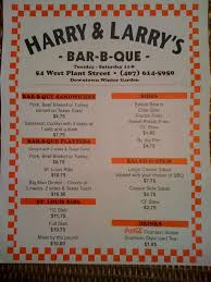harry u0026 larry u0027s bar b que menu urbanspoon zomato