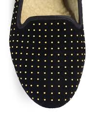 ugg sale saks ugg alloway studded suede slippers in lyst