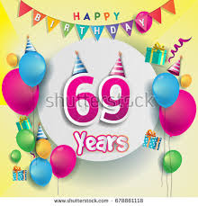 69th birthday card 69th birthday stock images royalty free images vectors