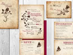 printable wedding invitation kits wedding invitation set template best template collection