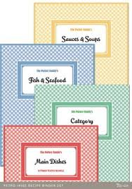 printable recipe book coral and mint recipe binder blank