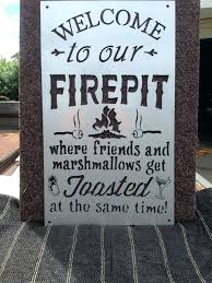 Firepit Safety Collegiate Pit Collegiate Pit Safety Signage Wooden Sign