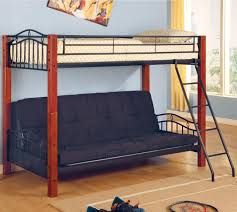white metal bunk bed with futon roselawnlutheran