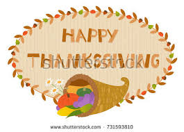 thanksgiving cornucopia sign decorative happy thanksgiving stock