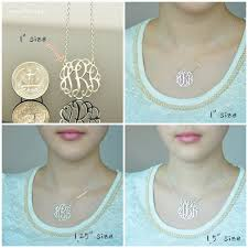 necklace pendant size images 27 best monogram necklaces by monogramstuff images jpg