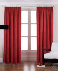 Upgrade White Curtains by Modern Red Luxury Pencil Pleat Lined Curtain Curtains U0026 Curtains Uk