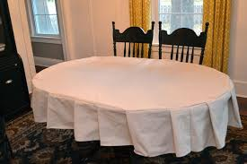 How To Make A Table Skirt by Make A Custom Fitted Tablecloth With Ruffles For Only 10