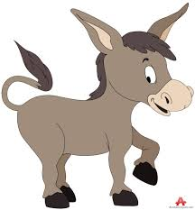 young donkey cartoon character free clipart design download