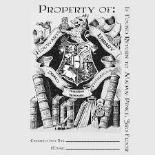 helping hands hogwarts library book plates free