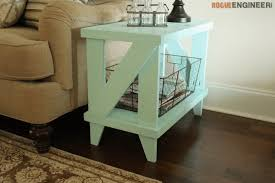 Wood End Table Plans Free by Narrow Cottage Side Table Free Diy Plans Rogue Engineer