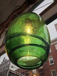 Green Pendant Lights Blown Handblown Recycled Green Glass Pendant Light Large