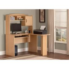 Walmart L Shaped Computer Desk Mainstays L Shaped Desk With Hutch Finishes Walmart