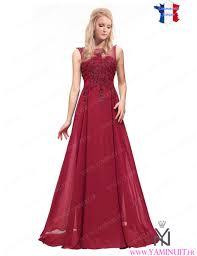 boutique mariage bordeaux robe de soirée bordeaux couleur yaminuit