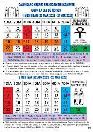 almanaque hebreo lunar 2016 descargar calendario hebreo religioso 2023