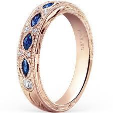 sapphire and wedding band kirk kara 14k gold blue sapphire and dahlia wedding band