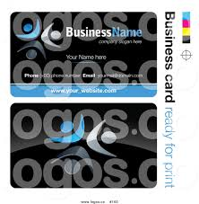 Free Online Business Card Design Royalty Free 3d Vector Business Card Design With Blue Teamwork