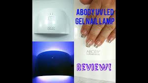 abody uv led nail lamp review nail tutorial youtube