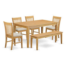 Furniture Kitchen Table Amazon Com East West Furniture Cano6 Oak W 6 Piece Dining Table
