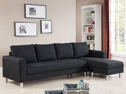 canape vigo canapé d angle tissu réversible 5 places vigo noir 68228