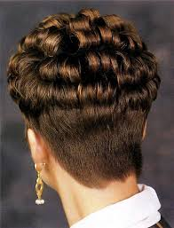 high nape permed haircut short wedge with defined curls love to see glossy defined curls